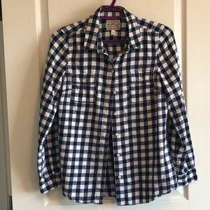 Women's Old Navy Plaid Button Down Shirt